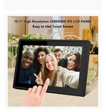 Feelcare 10.1 Inch 16GB Smart WiFi Digital Picture Frame, Send Photos or Small V