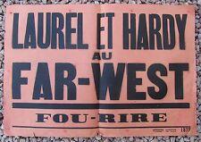 ANCIENNE AFFICHE CINEMA LAUREL ET HARDY AU FAR-WEST
