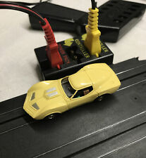 AURORA THUNDERJET 500 ORIGINAL MAKO SHARK CORVETTE YELLOW HO SLOT CAR VINTAGE