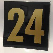 Black & Gold text house number signs / 150m x 150mm
