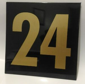 Gold on Black house number signs / 150m x 150mm
