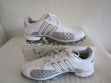 ADIDAS POWERBAND CHASSIS WHITE/SILVER LEATHER GOLF SHOES WOMENS  10M