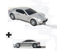 Maserati GT Silver USB Wired Optical Computer Car Mouse with BONUS 8GB USB Stick