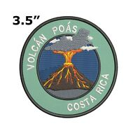 VOLCAN POAS VOLCANO COSTA RICA EMBROIDERED PATCH IRON / SEW-ON VACATION APPLIQUE