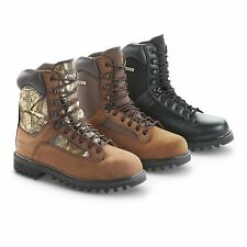Mens Hunting Cold Weather Work Boots Pull-On Lace Up Hiking Waterproof Size - 13