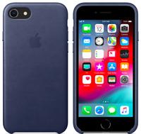 Apple iPhone 8 / 7 / SE Echt Original Leder Hülle Leather Case Mitternachtsblau