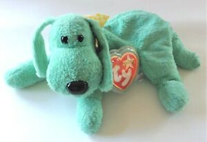 Ty Beanie Babies Plush Toy Dog Diddley 16 cm With Protected Tag 2000