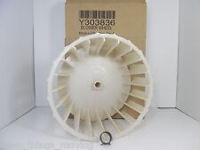 Y303836 Genuine OEM Whirlpool Maytag Dryer Blower Wheel complete. NEW