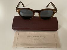 fe7a9082f0a Mens Oliver Peoples Del Ray Tort Brown Round Lens Vintage OV5318 Sunglasses  BN