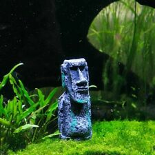 Easter Island Mini Stone Statue Fish Tank Aquarium Deco Craft Ornament Accessory