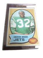 1970 Topps Emerson Boozer Rookie New York Jets Near Mint