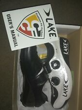 Lake Cycling  Women's CX402-W Road Cycling Shoe (White/Black - bike clip