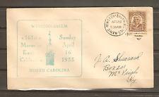 1933 Cacheted Cover Winston-Salem NC 161st Moravian Easter Celebration w/Duplex