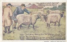 ADVERTISING: MOLASSINE MEAL -sheep with farmers-ALLAND-HJC-MO perfin-NPB cancel