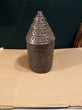 Tin Candle Shade  Punched Tin Illuminated Scrimshaw Rustic  Primative