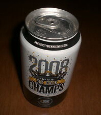 2008 STEELERS SUPER BOWL CHAMPS IRON CITY BEER CAN - ROAD TO THE SIX PACK - BO