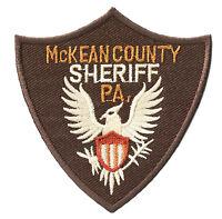 Ecusson brodé patche SHERIFF Mc KEAN County thermocollant patch