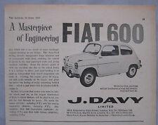 1959 Fiat 600 Original advert No.1