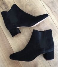 NEW MADEWELL The Walker Chelsea Ankle Heel Boots In Suede 8 Black g8044