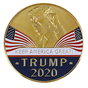US President Trump 2020 Speech Crafts Metal Commemorative Coin Medal Collect^dm