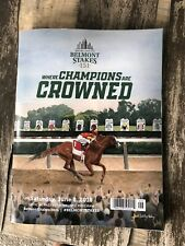2019 Belmont Stakes Program Signed By All Jockeys In the race & Bill Mott