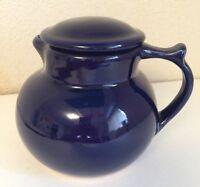"""USA Christian Ridge Cobalt Blue Cupper Coffee Tea Lidded CARAFE  POT 6""""t 5+ cups"""