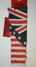 NWT TRIPP Red White Blue STRIPE STAR FLAG ARM WARMERS  New $25