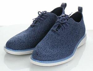 E1 NEW $270 Men's Sz 10.5 M Cole Haan Oxford Lace-Up Shoe In Blue