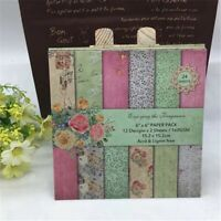 Floral 24 Sheets 6x6 Scrapbooking Pad Paper Background Pattern Card Crafts DIY