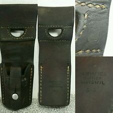 Vtg Rare 1966 Swiss wwii Signed MADISWIL Max Sattler Leather Sheath 3.5""