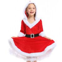 New Santa Claus Costume Cosplay girls Christmas Costume kids Santa Dress