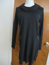 Design History Women's Black Stylish Sweater Dress Size Large NWT