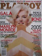 MARILYN MONROE December2005 Playboy PIERCE BROSNAN CHRISTINE SMITH RACHEL VELTRI