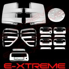 09-14 FORD F150 Chrome Cover Mirror 4 Door W/O KP+Tailgate+Tail Light Bezel+Gas