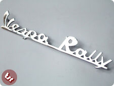 VESPA Rear Frame Script Badge 'Vespa Rally' Chrome