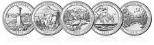 2011 P OR D Set American Beautiful National Park 5 Quarters US Mint Set Coins