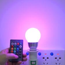 5W 10W E27 E14 RVB LED Ampoule 16 couleur changeant Ampoule + IR télécommande