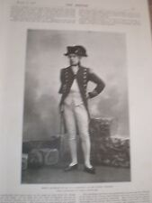 Printed photo W L Abingdon as Admiral Nelson olympic theatre London 1897