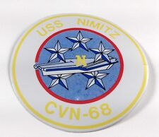 "USS Nimitz CVN-68 US NAVY 4"" Round Helmet Vinyl Decal Sticker"