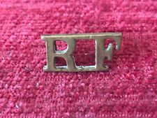 City of London Royal Fusiliers RF Brass Shoulder Title Badge British Army 5/15