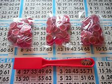 300 RED MAGNETIC BINGO CHIPS WITH A RED MAGNETIC BINGO WAND
