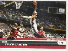 VINCE CARTER 1ST DAY ISSUE SP SERIAL #/1999 2007-08 TOPPS STADIUM CLUB 76 NETS