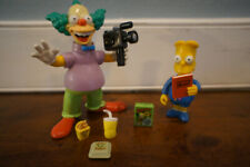 Playmates Simpsons WOS Sundays Best Bart Simpson & Krusty the Clown figure Lot