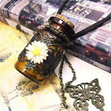 FD937 Queen Princess Daisy Chic Wish Bottle Long Leather Rope Sweater Necklace Z