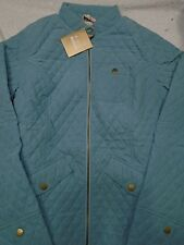 Barbour Lead Quilted Jacket with Equestrian Lining NWT USA Size 6 $229 Blue