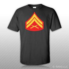 E-4 Corporal Insignia T-Shirt Tee Shirt Free Sticker usmc marine corps