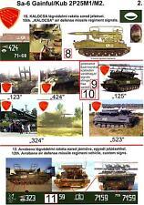 """Hungarian Aero Decals 1/35 SA-6 """"GAINFUL"""" 12th Arrabona Air Defense Regiments"""