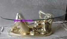 Frauen Akt Erotik Tisch Couchtisch Figur Tischfuß Skulptur Beistelltisch Gold Op