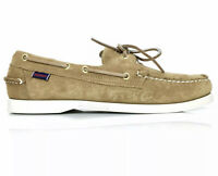 Sebago Docksides Mens Sand Suede Boat Light Brand Brown Dress Shoes Size 11.5