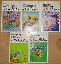 5 x ENID BLYTON ADVENTURES VINTAGE 1970'S DRAGON WISHING-CHAIR PINK-WHISTLE
